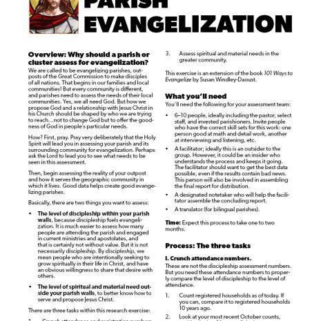 Parish Evangelization Assessment